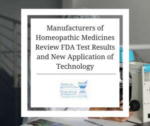 Manufactures of homeopathic